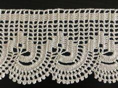 Crochet Towel, Crochet Art, Filet Crochet, Crochet Motif, Crochet Doilies, Crochet Border Patterns, Lace Knitting Patterns, Crochet Curtains, Crochet Videos