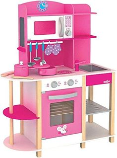Kitchen Sets For Kids, Diy Play Kitchen, Toy Kitchen, Creative Arts And Crafts, Creative Kids, Kids Bedroom Sets, Kids Room, Dolly House, Minnie Mouse Toys