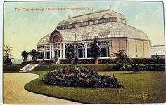 THE DUKE ESTATE Somerville New Jersey CONSERVATORY Vintage Postcard
