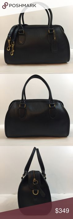 Vintage Coach Broadway Doctor Speedy Satchel Preowned   Navy color although it looks more black in pics.   Made in USA  Leather shoes signs of wear   No. 102-6122  No trades Coach Bags Satchels
