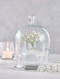 Glass Bell Jar Medium. A fabulous way to display gorgeous finds or a scented candle #nordichouse #glass #display #jar