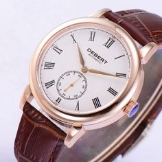 87.48$  Buy here - http://aigw7.worlditems.win/all/product.php?id=32733947138 - 40mm Debert white dial Roman marks rose gold case Automatic mens Watch