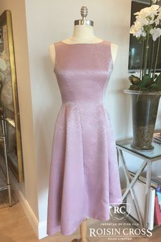 Dressmaking service for ladies day wear and occasional wear dresses and blouses at Roisin Cross Silks, Dublin Call us on 1 2846282 Crepe Dress, Silk Crepe, Day Dresses, Summer Dresses, Dress Making Patterns, Printed Silk, Ladies Day, Dressmaking, High Neck Dress