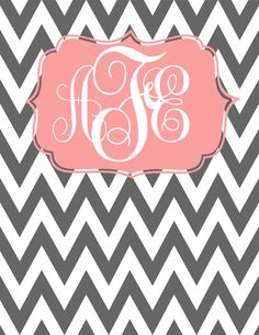 Monogram Binder Cover and its my initials?!