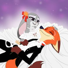 """skeletonguys-and-ragdolls: """"with the light of the moon to guide our way, we'll meet by chance again and again… """" Disney Duos, Disney Zootropolis, Arte Disney, Disney Marvel, Disney Love, Zootopia Characters, Zootopia Art, Nick Wilde, Nick And Judy Comic"""