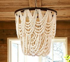 Design trend: beaded chandeliers http://studiostyleblog.com/2015/06/15/design-trend-beaded-chandeliers/