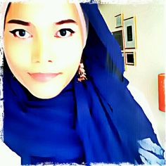 wearing blue hijab from pull & bear