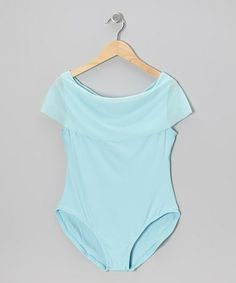Take a look at this Ice Blue Draped Neck Leotard - Women & Petite by Grishko on #zulily today!