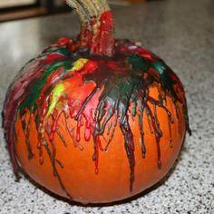 Pumpkin Crayon Melt {Preschool Halloween Crafts}