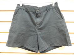 Dockers Navy Blue Natural Waist Casual Cotton Shorts 8 M