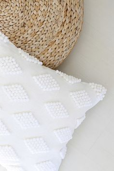 Glue pompoms to a pillowcase to add texture. | 27 DIYs For The Classiest Person…