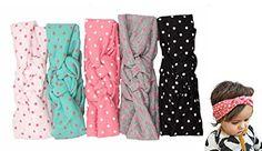 "Xife® Baby Girls Cotton Dot Headbands Round Dot Turban Headband Head Wrap Knotted Hair Band (17"") XiFe http://www.amazon.com/dp/B00ZUYD7OC/ref=cm_sw_r_pi_dp_uRTWvb1ZKJ32Q"
