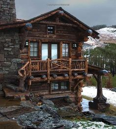Rustic Log Cabin Homes Log Cabin Homes, Log Cabins, Little Cabin, Mountain Homes, Bear Mountain, Mountain Living, Cabins And Cottages, Cozy Cabin, Cabins In The Woods