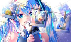 Find images and videos about vocaloid, miku and hatsune on We Heart It - the app to get lost in what you love. Manga Kawaii, Kawaii Anime Girl, Manga Anime, Kawaii Art, Girls Anime, Manga Girl, Anime Art Girl, Girl Blue Hair, Sweet Pictures