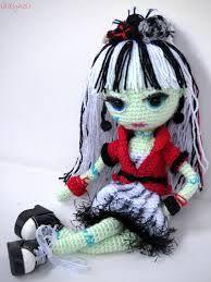 Patron Amigurumi Monster High : Frida Kahlo doll Dia de los Muertos - Day of the Dead ...