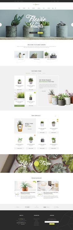 Flowie is a simply beautiful and delightful PSD template specially designed for #gardening and home #decoration online shop. #psdtheme