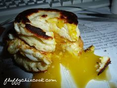 Egg Fast Breakfast Biscuit With Runny Yolk