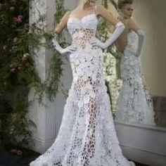 nescafe.cl | Vestidos de novia tejidos a crochet