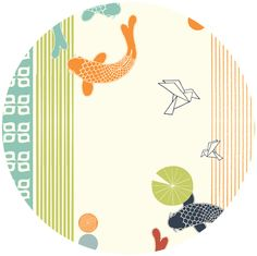 Lovely japanese inspired print. Eiko by Jay-Cyn Designs for Birch Fabrics Organic