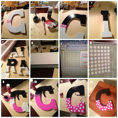 Minnie Mouse Inspired Letters using Silhouette Cameo