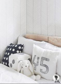 Herringbone Nursery Wallpaper / Regular or by LivettesKIDS on Etsy