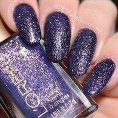 L'Oreal Sexy in Sequins. #nailart #nails #nailblogger #polish #bluenails #thepolishedmommy #glitter #lorealparis - bellashoot.com