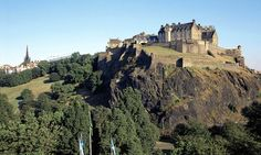 Edinburgh, Scotland...Edinburgh, Scotland - What do I remember most about Edinburgh? Medieval architecture - Brick buildings, red rooftops, chimney stacks, and cobblestone streets.