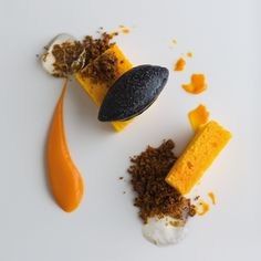 Carrot Cake With Black Olive Sorbet