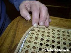 How-to Install Cane Webbing | Sheet Cane | Pressed Caning