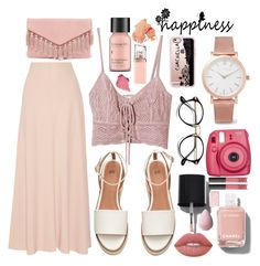 """lunch date"" by iamsosiko ❤ liked on Polyvore featuring The Row, Jens Pirate Booty, Casetify, Larsson & Jennings, LULUS, Chanel, Perricone MD, Bobbi Brown Cosmetics, HUGO and NARS Cosmetics"