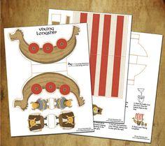 Items similar to Viking Dragon Longship Printable Paper Toy PDF on Etsy Dragon Birthday Parties, Dragon Party, Paper Toys, Paper Crafts, Foam Crafts, Paper Art, Viking Birthday, Origami Templates, Box Templates