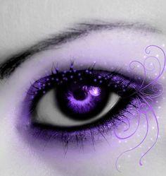 Purple love, purple and black, all things purple, shades of purple, purple Purple Love, All Things Purple, Purple Rain, Purple And Black, Purple Stuff, Pretty Eyes, Cool Eyes, Beautiful Eyes, Eyes Artwork