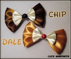 Chip and Dale Hair Bow Disney Inspired by bulldogsenior08 on Etsy, $8.00