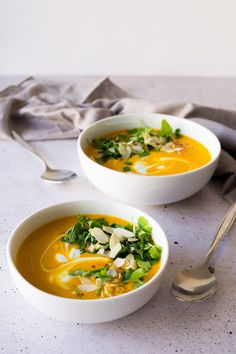This super easy recipe for Sweet Potato Soup will leave you feeling warmed from the inside out! Click through for the recipe!