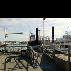 Ferry dock waiting to head to Nantucket island