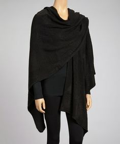 Take a look at this Black Wrap by Aziza on #zulily today! $30 !!