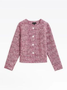 veste may rose en tweed | agnès b. Tweed, Sweaters, Collection, Fashion, Jacket, Moda, Fashion Styles, Fasion, Sweater