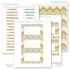 6 Best Images of Free Printable Office Labels - Free File Folder Labels Templates, Printable File Folder Tabs and Free Printable File Folder Label Templates Printable Labels, Printable Paper, Free Printables, File Folder Labels, File Folders, Free Label Templates, Labels Free, Organizing Labels, Bill Organization