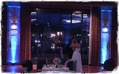 First dance with some cyan uplighting makes all the difference! At the Westin Hotel in Westminster.