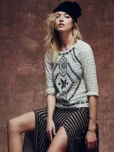 Free People Changing Directions Lace Top at Free People Clothing Boutique