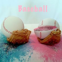2 Baseball Gender Reveal Balls Pack (Custom Combinations and Styles) Best Gender Reveal Balls!! They have Baseballs, Softballs, Footballs, Soccer Balls, Golf Balls, and Shooting Targets! Great for gender reveal parties. Pink for girl and Blue for Boy and add some spice with Glitter! These balls produce the largest reveal cloud on the market!