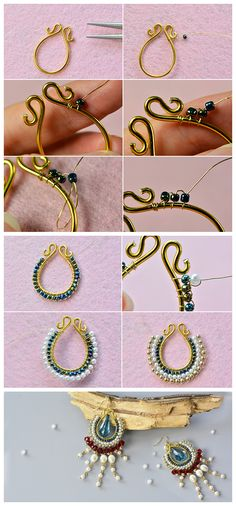 #Beebeecraft #Original Project--How to Make Unique #Beading #DangleEarrings with #Pearl and #GlassBeads.