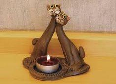 Výsledek obrázku pro keramické svícny Cat Crafts, Diy And Crafts, Craft Projects, Projects To Try, Clay Cats, Ceramic Light, Tea Light Holder, Clay Creations, Light Decorations