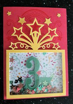carte d'anniversaire, Stampin'up, carte à secouer, lot fête endiablée, fannystamp31