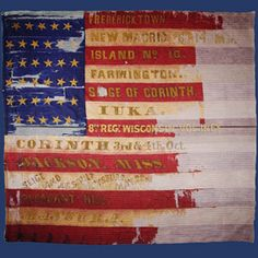 Wisconsin Infantry & Their Flag - Wisconsins Civil War Battle Flags American Civil War, American Flag, Civil War Flags, Union Flags, Union Army, Family History, Civilization, Soldiers, Wisconsin