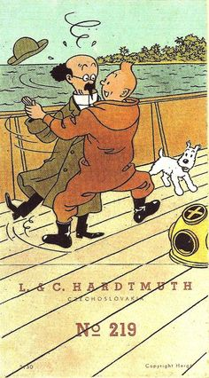 Hergé      Hergé - 1948 - Illustration for a box of twelve colored pencils