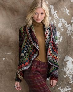 09 – Crochet Jacket | Knitting Fever Yarns & Euro Yarns