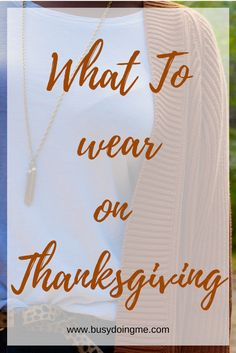 Have you planned your Thanksgiving outfit yet?