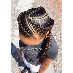 Nobody ever gets 3 #feedinbraids, I think 3 is cute ☺️ #JAZITUPHAIR #JAZITUPBRAIDS #cutcreatersalonsuites