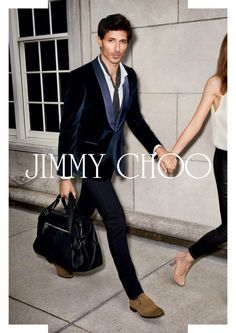 The Style Examiner: Andres Velencoso Segura Fronts Jimmy Choo and Mango Campaigns